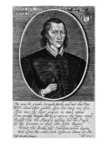 Portrait of John Donne, Dated 1591, Frontispiece to 'The Poems of John Donne', Published 1942 Giclee Print by  English School