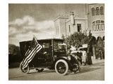 Ambassador Wilson Driving around Mexico City During 'La Decena Tragica' with a Us Flag Premium Giclee Print