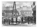 The State Minister Walewski Laying the First Stone of the New Opera of Paris, 21st July 1862 Giclee Print by  French School