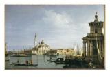 The Island of San Giorgio Maggiore, Venice, with the Punta Della Dogana and Numerous Vessels Giclee Print by  Canaletto