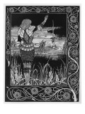 How Sir Bedivere Cast the Sword Excalibur into the Water, an Illustration from 'Le Morte D'Arthur' Premium Giclee Print by Aubrey Beardsley