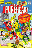 Archie Comics Retro: Captain Pureheart Comic Book Cover No.4 (Aged) Prints
