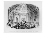 Sale of Estates, Pictures and Slaves in the Rotunda, New Orleans, Engraved by J.M. Starling, 1842 Giclee Print by William Henry Brooke