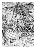 Death and the Sailor, from 'The Dance of Death', Engraved by Hans Lutzelburger, C.1538 Giclee Print by Hans Holbein the Younger