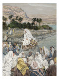 Jesus Preaching by the Seashore, Illustration for 'The Life of Christ', C.1886-96 Giclee Print by James Jacques Joseph Tissot