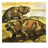 Protoceratops, Illustration from 'In the Days of the Dinosaurs, Discovery in the Desert', 1980 Giclee Print by  Payne