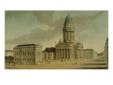 View of the Gendarmenmarkt with the French Playhouse and Cathedral, Berlin, 1788 Giclee Print by Karl Friedrich Fechhelm