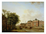 The Houtegracht, Now the Jonas Daniel Meijerplein, Amsterdam, with the Ashkenazi Synagogues Giclee Print by Jan Ten Compe Or Kompe