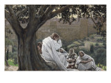 Christ Foretelling the Destruction of the Temple, Illustration for 'The Life of Christ', C.1886-94 Giclee Print by James Jacques Joseph Tissot