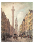 View of Fish Street Hill, Monument and St. Magnus the Martyr from Gracechurch Street, London, 1795 Giclee Print by William Marlow