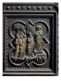 St John the Baptist Announces Christ, Eighth Panel of South Doors of the Baptistery of San Giovanni Giclée-Druck von Andrea Pisano