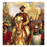 The Duke of Guise Returns to Paris in Triumph in 1588 after Defeating the French Protestant Rebels. Giclee Print by John Millar Watt