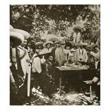 General Gonzalez Negotiating with Emiliano Zapata on Behalf of President Carranza Impression giclée
