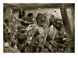 The Russo-Japanese War: a Hand-To-Hand Struggle in the Earthworks at Port Arthur Giclee Print by Richard Caton Woodville II