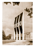 Rear View of the Grand Stand for Nationalist Socialist Party Congresses at Nuremberg Giclee Print by  German photographer
