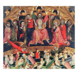The Last Judgement from the Altarpiece at the Old Church of Sant Salvador D'Albatarrec at Lleida Giclee Print by Jaime Ferrer II