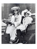 Millicent, Duchess of Sutherland and Her Daughter at First Meeting of the Ladies Automobile Club Giclee Print by  English Photographer