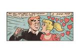 Archie Comics Retro: Archie and Betty Comic Panel; Date (Aged) Giclee Print
