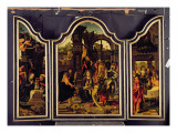 A Triptych: Adoration of the Magi; Nativity and Presentation in the Temple; Annunciation Giclee Print by  Master of 1518
