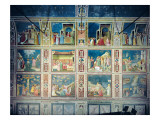 View of the North Wall Depicting Scenes from the Life of the Virgin and the Life of Christ, C.1305 Giclee Print by Giotto di Bondone 
