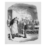Oliver Asking for More, from 'The Adventures of Oliver Twist' by Charles Dickens Giclee Print by George Cruikshank