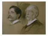 Otto Von Bismarck and His Son Herbert, State Secretary of the Foreign Office from 1860-90, 1892 Giclee-vedos tekijänä Franz Seraph von Lenbach