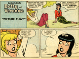 Archie Comics Retro: Betty and Veronica Comic Strip; Picture That (Aged) Print