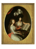 Lady Maria Tryphena Cockerell and Lady Charlotte Imhoff Making Music at a Harpsichord, C.1789 Giclee Print by Francesco Renaldi