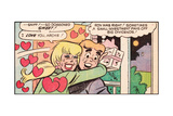 Archie Comics Retro: Archie and Betty Comic Panel; Gift (Aged) Giclee Print