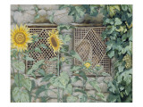 Jesus Looking Through a Lattice with Sunflowers, Illustration for 'The Life of Christ', C.1886-96 Giclee Print by James Jacques Joseph Tissot