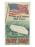 The Two Best Things That Float', Advertisement for Fairbank's Floating Fairy Soap, 1898 Giclee Print by  American School