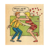 Archie Comics Retro: Archie and Betty Comic Panel; Archie, We're in Love! (Aged) Prints