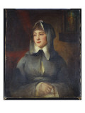 Portrait of a Lady, Half Length, as a Nun, Holding a Rosary, by a Shrine in an Interior Giclee Print by  Romney