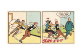 Archie Comics Retro: Archie Comic Panel; Archie, Reggie, Jughead and Mr. Weatherbee  (Aged) Giclee Print