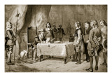 Swiss Envoys before Cromwell, Illustration from 'Hutchinson's Story of the British Nation', C.1923 Giclee Print by Arthur Kemp Tebby