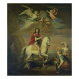 William Iii on a Grey Charger Observed by Neptune, Ceres and Flora. Mercury in the Sky and Astrea. Giclee Print by Godfrey Kneller