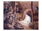 The Adoration of the Shepherds, Illustration for 'The Life of Christ', C.1886-94 Giclee Print by James Tissot