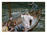 Christ Stilling the Tempest, Illustration for 'The Life of Christ', C.1886-94 Giclée-tryk af James Tissot