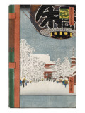 Kinryuzan Temple at Asakusa, from the Series 'One Hundred Views of Famous Places in Edo' Giclee Print by Ando Hiroshige