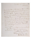 Letter with Signature of the Writer, Written at Frankfurt En Route to Chateaubriand's New Post Giclée-Druck von Francois Rene Vicomte de Chateaubriand