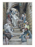 In the Villages the Sick Were Brought Unto Him, Illustration for 'The Life of Christ', C.1886-94 Giclee Print by James Jacques Joseph Tissot
