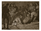 Burial of Sir John Moore, Illustration from 'Cassell's Illustrated History of England' Giclee Print by Paul Hardy