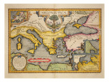 Map of the Voyage of the Argonauts, from the 'Theatrum Orbis Terrarum', 1603 Giclee Print by Abraham Ortelius