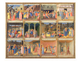Scenes from the Life of Christ, Panel Three from the Silver Treasury of Santissima Annunziata Giclee Print by  Fra Angelico