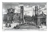 View of the Gates at the Entrance to the Arsenal in Venice, Published by Martin Engelbrecht Giclee Print by  German School