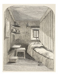 Separate Sleeping-Cell in One of the New Wings of the Female Convict Prison at Brixton Giclee Print by  English School