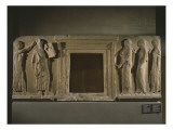 Apollo and the Nymphs, Relief from the Passage of the Theores, from Thasos, before 480 Bc Giclee Print by  Greek