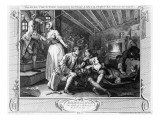 The Idle &#39;Prentice Betrayed by a Prostitute, Plate Ix of &#39;Industry and Idleness&#39;, 1747 Giclee Print by William Hogarth