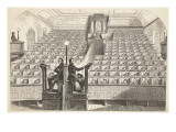 The Chapel, on the 'separate System', in Pentonville Prison, During Divine Service Giclee Print by  English School
