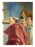 The Legend of the True Cross, the Verification of the True Cross, Detail of Three Male Attendants Giclee Print by Piero Della, Francesca